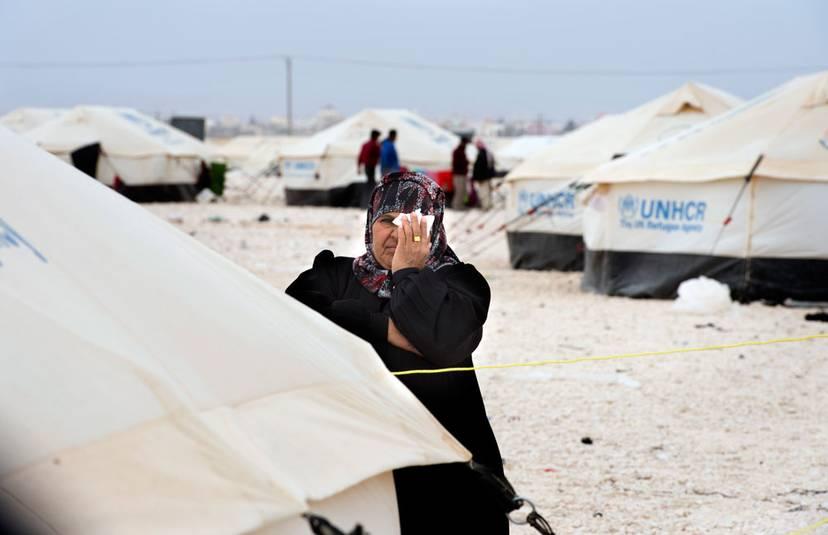 Flyktinglägret Zataari är det största i Jordanien. Här bodde som mest 203 000 flyktingar – men nu är det nere på under 80 000. Foto: ULF HÖIJER